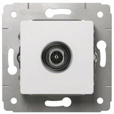 Механизм TV розетки Legrand Cariva 773680 проходной белый 14 Дб