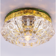 Светильник точечный встраиваемый Italmac Bohemia 220 4 73 G9 золото 40 Вт