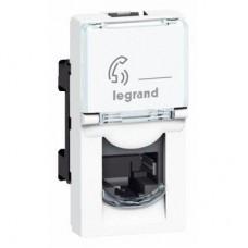 Розетка телефонная Legrand Mosaic New RJ45 078730 1 модуль одноместная белая