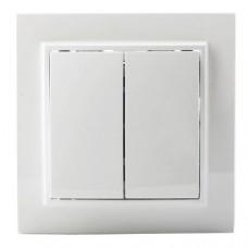 Выключатель EKF Минск ERV10-023-10 двухклавишный белый