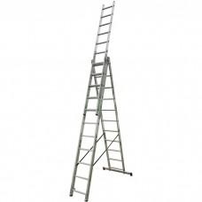 Лестница трехсекционная алюминиевая Krause Corda 013422 3х11