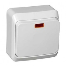 Выключатель Schneider Electric Этюд BA10-005B одноклавишный с индикатором белый
