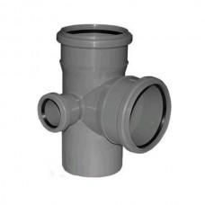 Крестовина канализационная ПП 110х110х110х50 мм 90 градусов левая с кольцом