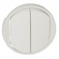 Лицевая панель Legrand Celiane 068002 двухклавишная белая