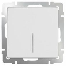 Механизм выключателя Werkel WL01-SW-1G-2W-LED одноклавишный проходной с индикатором белый