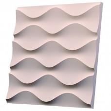Дизайнерская 3D панель из гипса Artgypspanel Песочная волна 500х500 мм