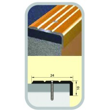 Порог-угол алюминиевый 24х10х900 мм бук натуральный