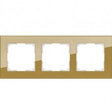 Рамка трехместная Werkel Favorit WL01-Frame-03 бронзовая