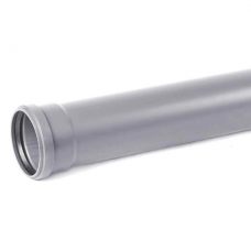Труба канализационная ПВХ Хемкор Ду 50х3,2х1000 мм с кольцом