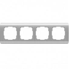Рамка четырехместная Werkel Stream WL12-Frame-04 серебряная