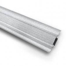 Плинтус ПВХ Ideal Комфорт К55 253 Ясень Серый 2500х55х22 мм