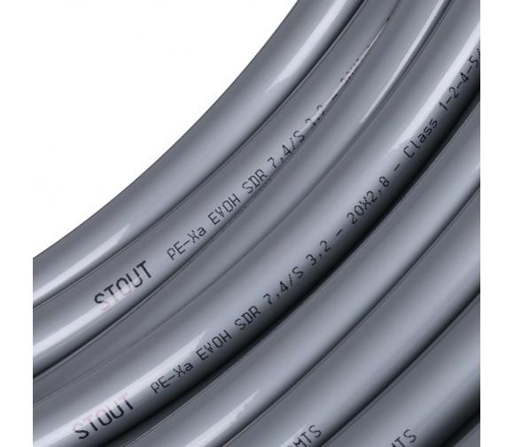 Труба Stout PEX-a SPX-0001-002028 20х2,8 мм серая бухта 100 м
