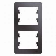 Рамка двухместная Schneider Electric Glossa GSL001206 платина