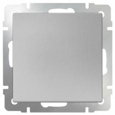 Механизм выключателя Werkel WL06-SW-1G-2W одноклавишный проходной серебряный