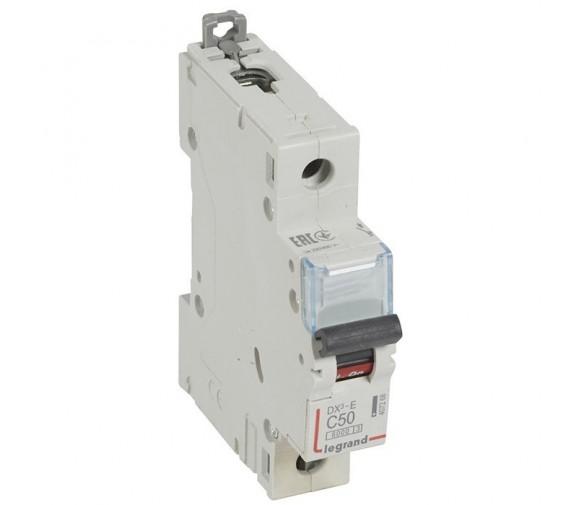 Автоматический выключатель Legrand DX3-E 407268 1P C 50A 6кА