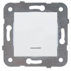 Механизм выключателя Panasonic Karre Plus WKTT00022WH-RES одноклавишный с подсветкой белый