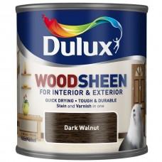 Лак-морилка на водной основе Dulux Woodsheen по дереву полуматовый темный орех 0,25 л