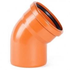 Отвод канализационный ПВХ Pestan 400 мм 45 градусов