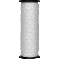 Нить капроновая на катушке 50 м белая усиленная 0,44 ктекс; 45 кгс