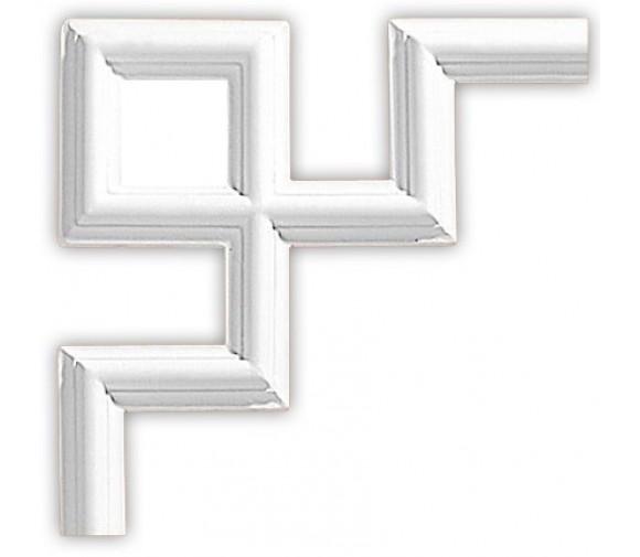 Угол декоративный для молдинга Decomaster 97010-9 300х300х18 мм