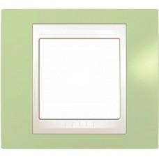 Рамка одноместная Schneider Electric Unica MGU6.002.863 хамелеон зеленое яблоко/белая