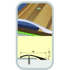 Порог-кант полукруглый 40х900 мм бук натуральный