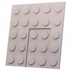 Дизайнерская 3D панель из гипса Artgypspanel Конструктор 500х500 мм