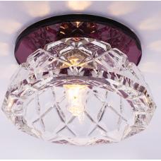 Светильник точечный встраиваемый Italmac Bohemia 220 6 74 G9 пурпур 40 Вт