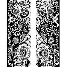 Фотообои виниловые на флизелиновой основе Decocode черно-белый орнамент 12-0469-AB 2х2,8 м