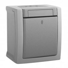 Переключатель Panasonic Pacific WPTC40032GR-RES одноклавишный проходной серый