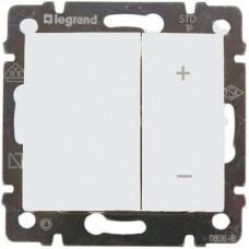 Механизм светорегулятора Legrand Valena 770062 400 Вт нажимной белый