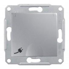 Механизм розетки Schneider Electric Sedna SDN3100160 одноместный с заземлением и защитными шторками с крышкой алюминий