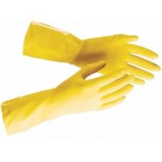Перчатки хозяйственные прочный латекс, разм.S