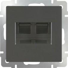 Werkel Ethernet WL07-RJ45+RJ45 двойной серо-коричневый