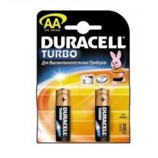 Батарейка алкалиновая Duracell Turbo AA Bl-2 Bl-2 2 шт