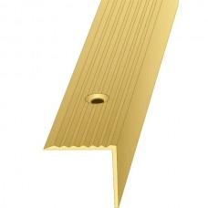Порог алюминиевый угловой ПО Золото 30x30x2700 мм