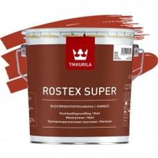 Грунтовка противокоррозионная Tikkurila Rostex Super красно-коричневая 3 л