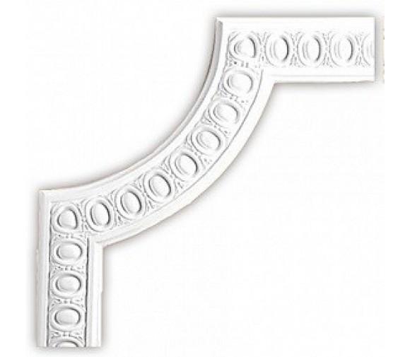 Угол декоративный для молдинга Decomaster 98703-2 326х326х15 мм