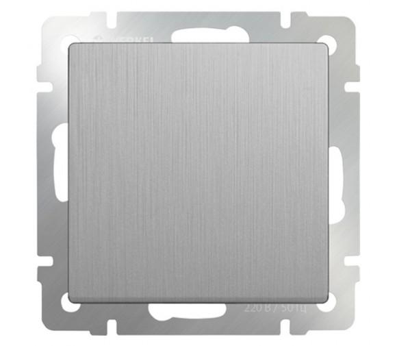 Механизм выключателя Werkel WL09-SW-1G одноклавишный cеребряный рифленый