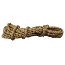 Веревка джут крученая Ф8мм (10м) 130 кгс