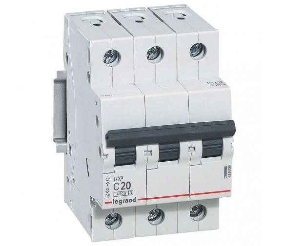 Автоматический выключатель Legrand RX3 419709 3P C 20A 4,5 кА