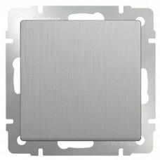 Механизм выключателя Werkel WL09-SW-1G-2W одноклавишный проходной серебряный рифленый