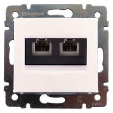 Механизм телефонной розетки Legrand Valena 774439 RJ11 двойной белый