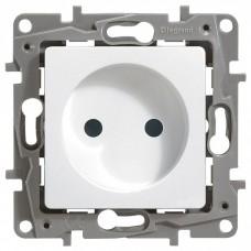 Механизм розетки Legrand Etika 672234 одноместный с защитными шторками белый