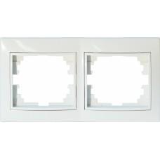 Рамка для розеток/выключателей 2 гнезда С/У. белый