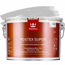 Грунтовка противокоррозионная Tikkurila Rostex Super светло-серая 10 л