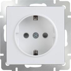 Механизм розетки Werkel WL01-SKG-01-IP20 одноместный с заземлением белый