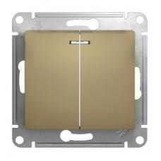 Механизм выключателя Schneider Electric Glossa GSL000453 двухклавишный с индикатором титан