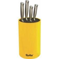 Универсальная подставка для ножей 11х18 см желтая Guppy