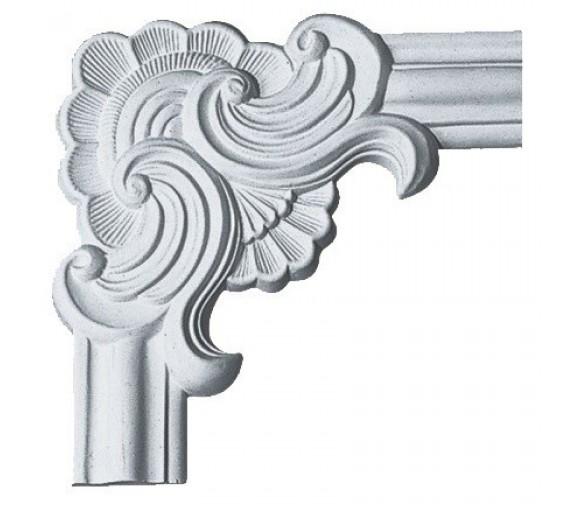 Угол декоративный для молдинга Decomaster 97022-1 270х270х21 мм